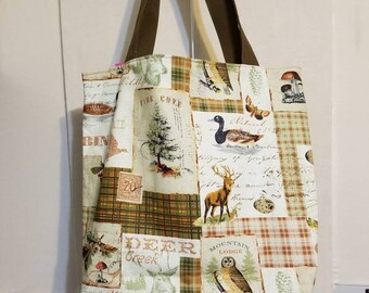 Nature themed tote bag