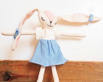YuMe - little bunny. Doll Bunny approximately 14 cm. France