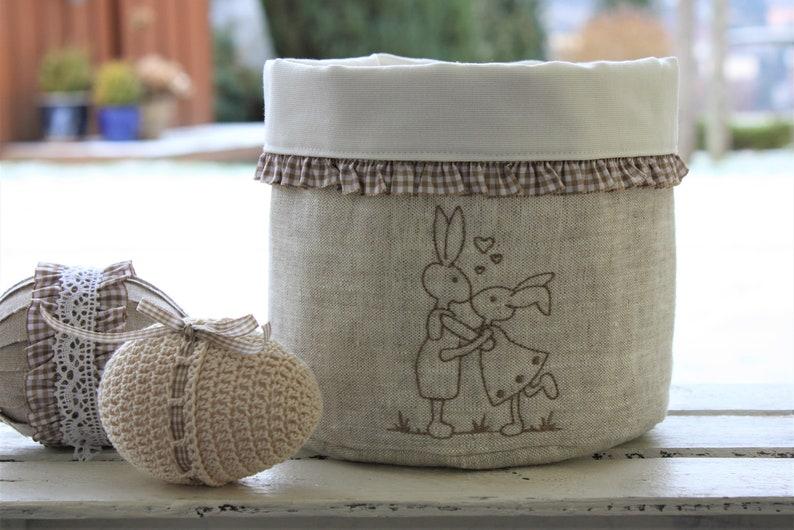Utensilo linen basket bread basket bread basket linen bunny image 0