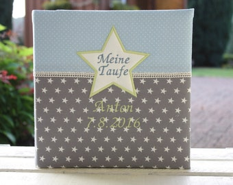 Baby album Baptismal album Children's album Photo album customizable Customizable Gift for birth Gift for baptism Stars Points Bemali