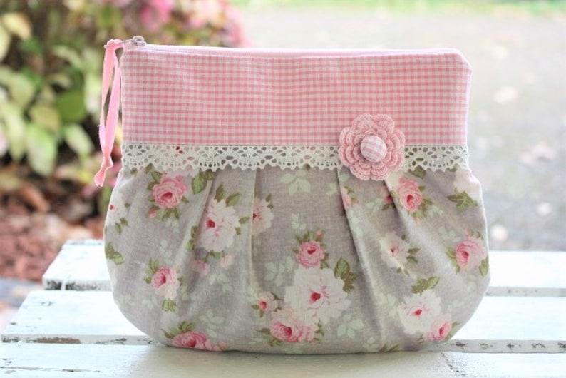 Cosmetic bag make up bag clutch bag bag Krimskramstasche image 0