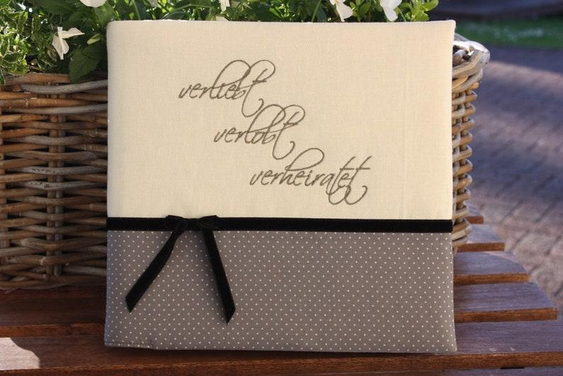 Guestbook grey linen wedding guestbook wedding gift image 0