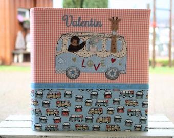 Baby Photo album Baptismal album Photo album Children's album customizable Customizable Gift for birth Gift for baptism Bus Boy Bemali