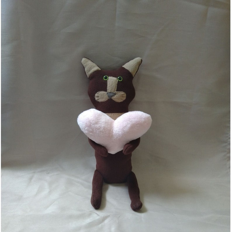 Stuffed toy Cat Mystery  homemade cuddly toy image 0
