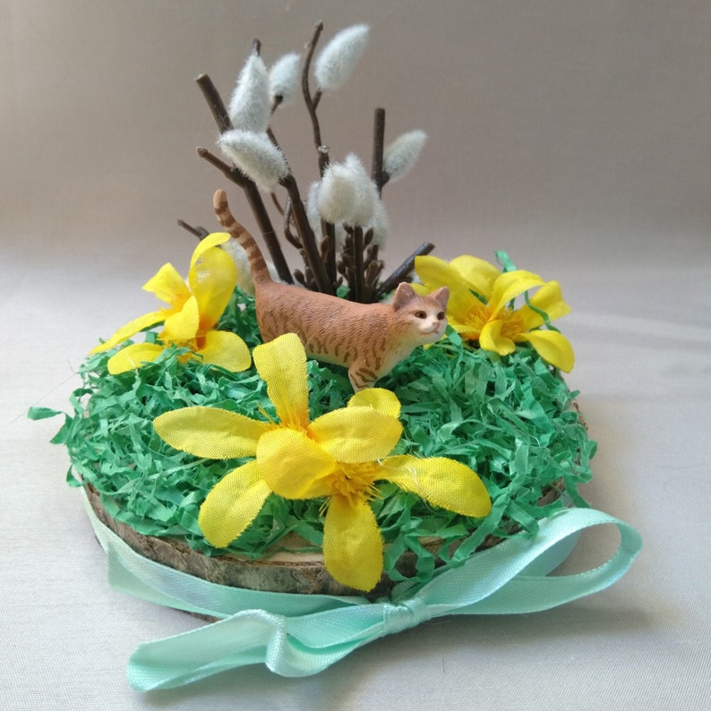 Decoration Palm kitten  Easter  for the living image 0
