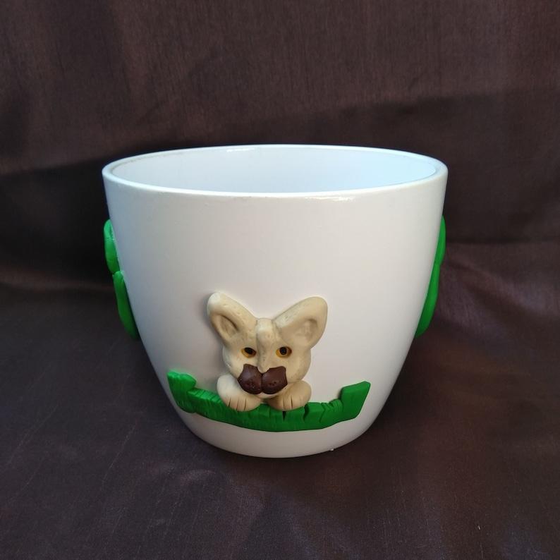 Flower pot Siam cat made of ceramic  for indoor image 0