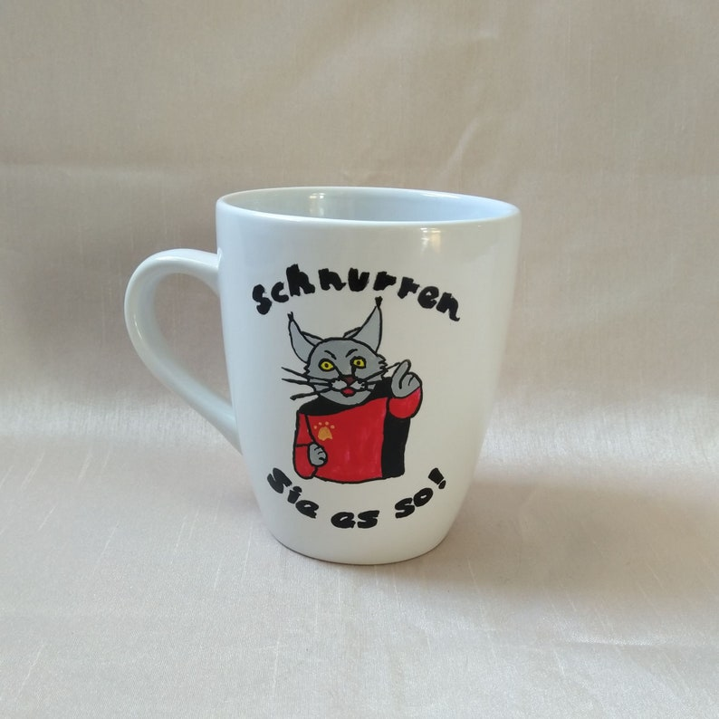Cup  Captain Schnurr  0.3 l  hand-painted image 1