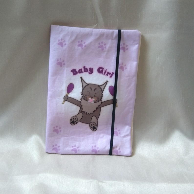 Diaper bag Baby Girl made of wax fabric handmade image 0