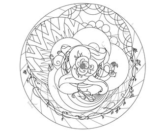 Circular Design   Coloring Page for Adults