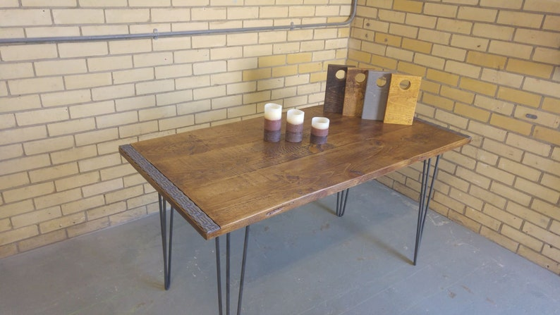 d251fcaad91db Industrial Dining Table Rustic solid Kitchen farmhouse Steel Reclaimed  Chelsea - Handmade In Britain British Steel