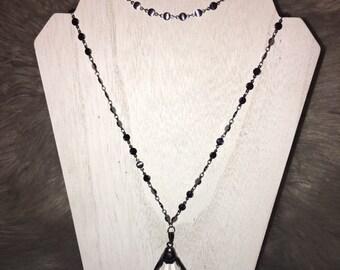 Double Wrap Gunmetal Necklace