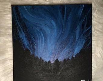 "Landscape Wall Art 12""x12"" original acrylic painting on canvas- home decor"