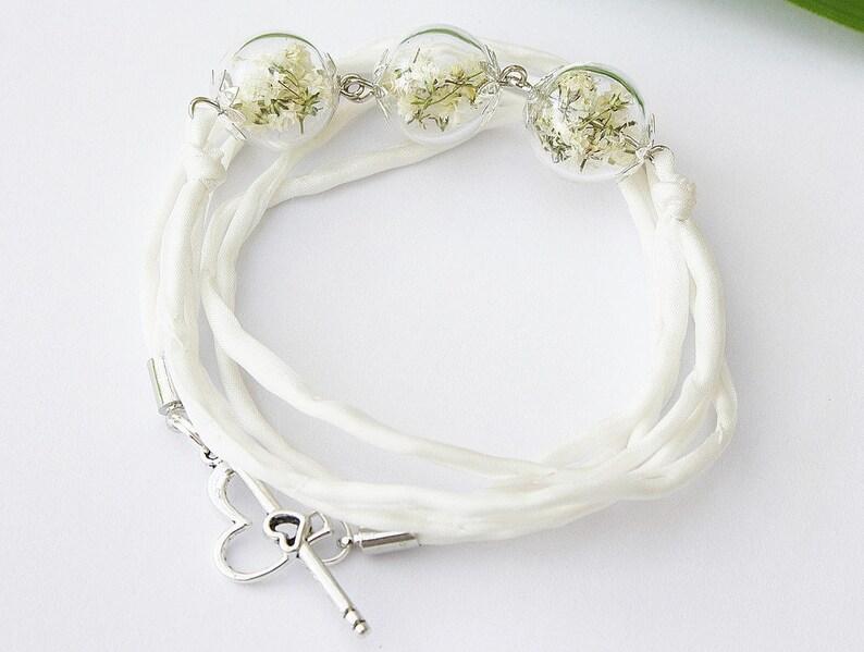 Genuine veil edwed bracelet ivory bridal jewelry wrap bracelet bracelet flower jewelry wedding silk white bride boho bohostyle bridesmaid