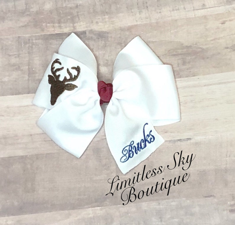 Embroidered hairbow-Back to school-monogrammed Hairbow-apple socks