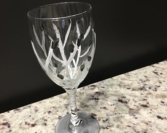 White Forest Wine Glass
