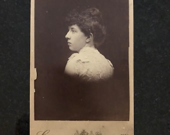 Spotlight Cabinet Card of a Young Woman