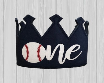 Baseball Birthday Hat Baby 1st First Smash Cake One Year Old Crown