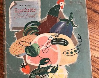 Vintage/Antique Watkins Hearthside Cook Book (1952)