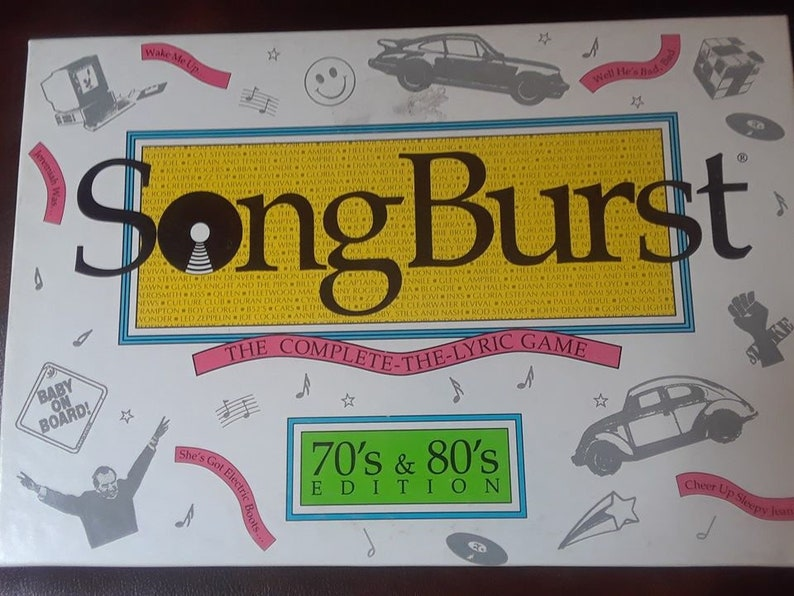 Song Burst 70s & 80s Edition Board Game