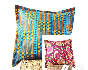 Handmade Reversible Cushion Cover One-of-a-kind made in the Heart of Africa.  Buy a cushion cover- Change a life!
