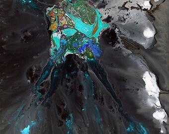 The deep sea digital jellyfish - digital remix of original canvas edition of 6 ... Respect balance and bliss ... Emotionism