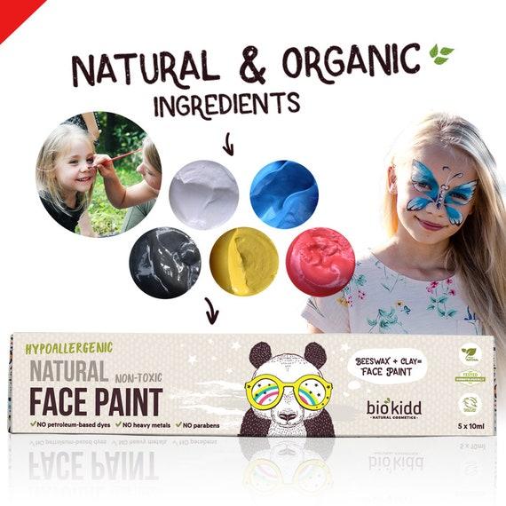 Biokidd Natural Face Paint Washable Cream Kit For Sensitive Etsy