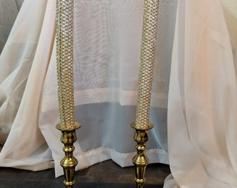 Pair of Gold Candlesticks