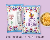 Let 39 s Fiesta Chip Bag Party Treat Wrappers