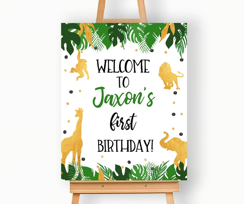 Jungle welcome party sign | Beanstalk Single Mums