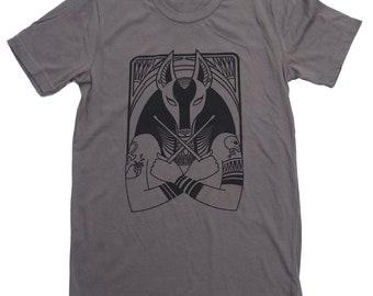 Goth Drummer Anubis - Hip Egyptian Series Hand Screened Shirt