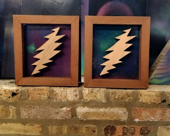 Grateful Dead: 13 Point Bolt Wall Art | Etsy