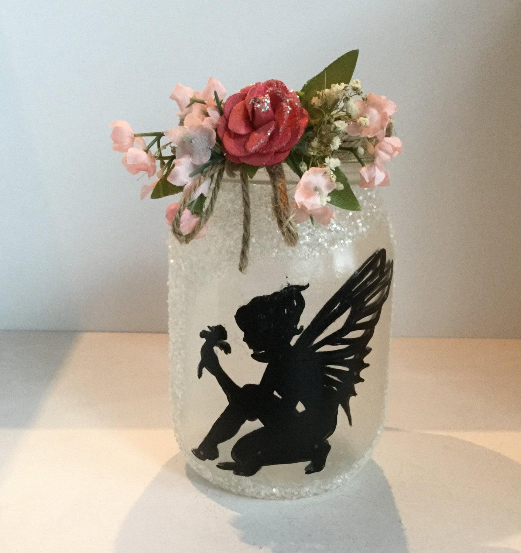 Fairy Mason Jar Lantern Fairy Luminaire Fairy Flameless Votive