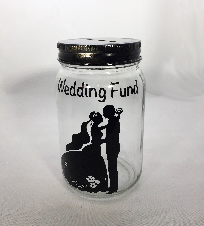 Personalized Mason Jar Wedding Bank Wedding Fund Bank Wedding