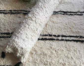 Handwoven roll pillow | long pillow | White pillow | Bed roll pillow | Neck roll pillow | Long roll pillow | Scandinavian style pillow