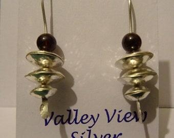 Silver & Garnet Earrings