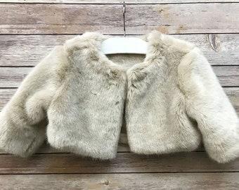 40e2ec04fcb Fur Bolero Kids Toddler Jacket Fur Coat