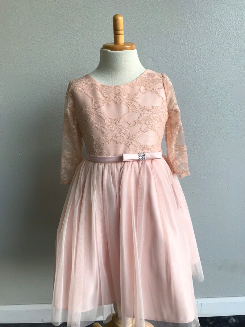 Lace Tulle Flower Girl Dress Communion Dress First Communion Holy Communion