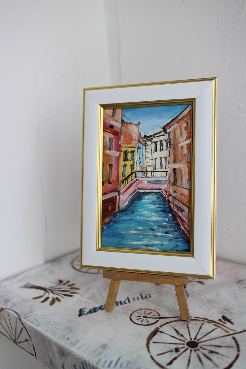 Venezia Venice gift Venice/'s Grand Canal Venice architecture Venice Wall Art Venice oil painting original framed