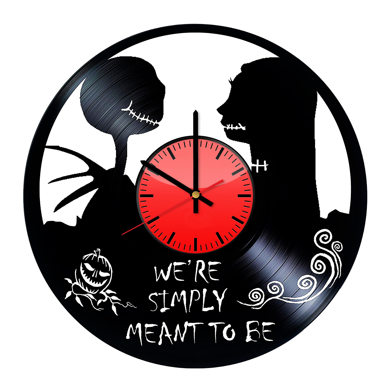 The Nightmare Before Christmas Wall Art Vinyl Record Clock | Etsy