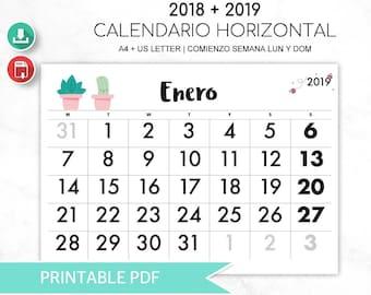 Cute Calendar 2018 Etsy