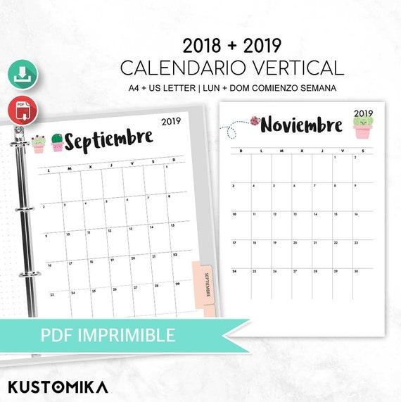 Items Similar To 2018 2019 Desk Calendar Cactus Spanish
