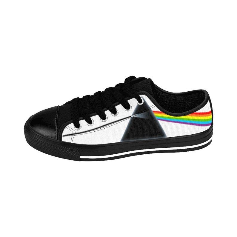 4cf1481a33 Pink Floyd Shoes Dark Side Of The Moon Album Art Rainbow Prism
