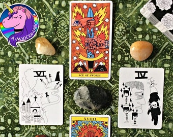 Labyrinth Tarot Reading -- A 4 Card Reading For Getting Unstuck