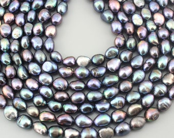 Beads & Jewelry Making Reasonable New Arrival 15-20mm Cultured Freshwater Nucleated Pearl Beads Grey Pearl Beads For Bracelets Necklace Diy Jewelry Making 15 Moderate Price Beads