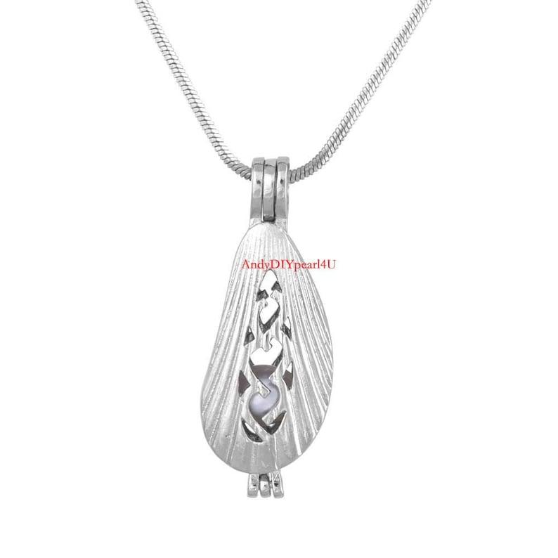 5PCS misti forma lega Pearl Bead Cage pendente bracciale charms diffusore di oli essenziali medaglione