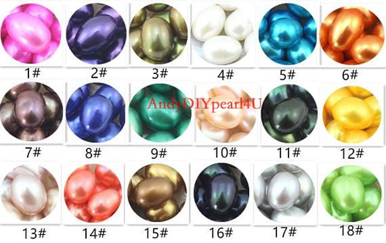 Freshwater Oyster pearl,Rice Oval 7-8mm AAA Pearl in Oyster,Saltwater Pearl Oyster FW Pearl Oyster,Bulk Wholesale 18 Colors C-9#