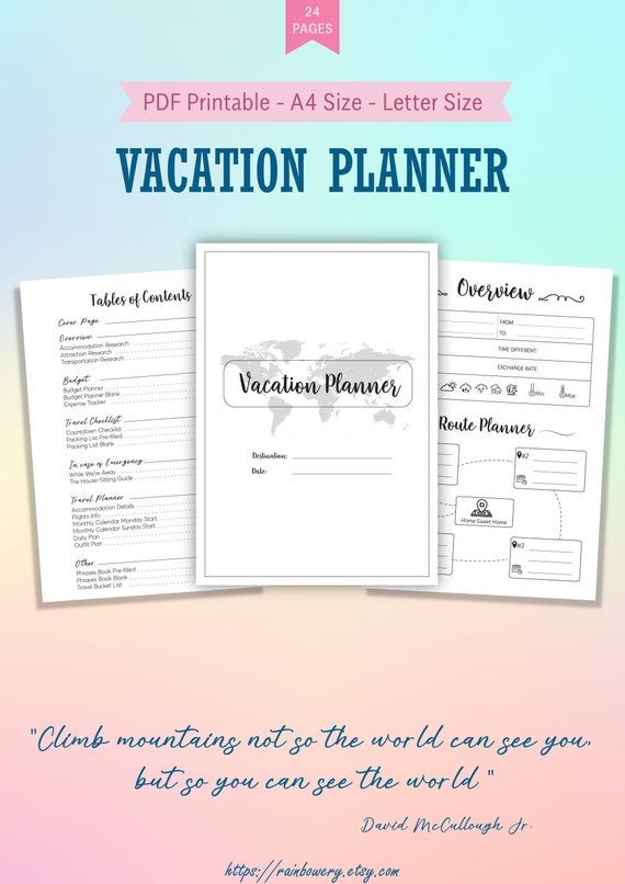 It's just a graphic of Trip Planner Printable throughout multiple