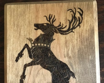 House Baratheon Crest - Game of Thrones Pyrography