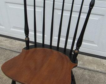 Hitchcock Signed Farmhouse Chair Black