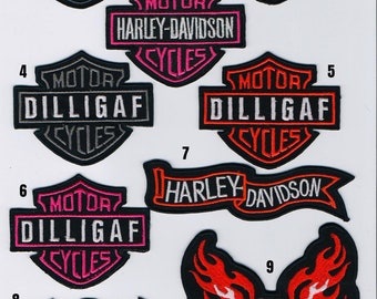 DILLIGAF Motor Cycles Logo Embroidered IronSew on Patch